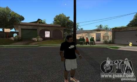 T-shirt By Nike for GTA San Andreas third screenshot