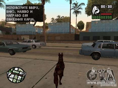 Cerberus from Resident Evil 2 for GTA San Andreas third screenshot