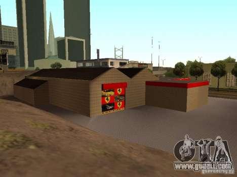 The Ferrari garage in Dorothy for GTA San Andreas fifth screenshot