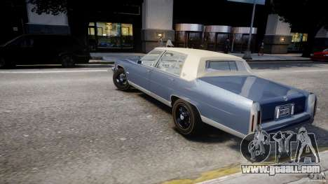 Cadillac Fleetwood Brougham 1985 for GTA 4 upper view