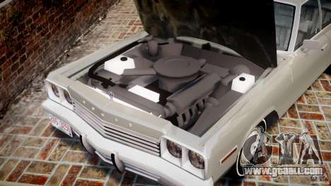 Dodge Monaco 1974 for GTA 4 inner view