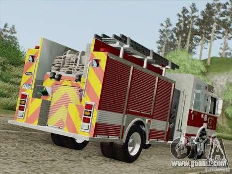 Pierce Pumpers. San Francisco Fire Departament for GTA San Andreas right view