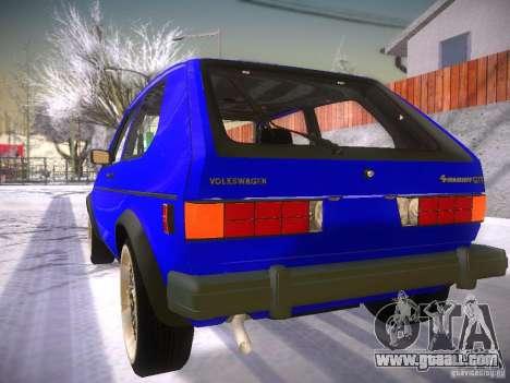 Volkswagen Rabbit GTI for GTA San Andreas left view