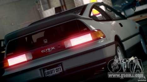 Honda CR-X SiR 1991 for GTA 4 right view