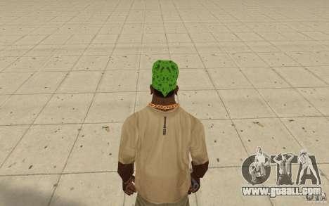 Bandana green maryshuana for GTA San Andreas third screenshot
