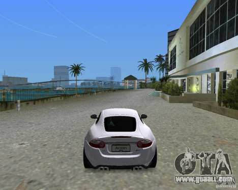 Jaguar XKR S for GTA Vice City back left view
