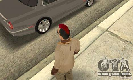 Red Mohawk and Black Stubbles for GTA San Andreas third screenshot