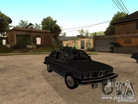 BMW 535is E28 for GTA San Andreas inner view