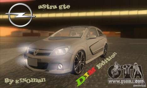 Opel Astra GTC DIM v1.0 for GTA San Andreas