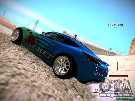 Pontiac Solstice Falken Tire for GTA San Andreas back view