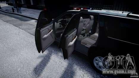 Cadillac Escalade Police V2.0 Final for GTA 4 side view