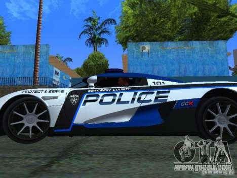 Koenigsegg CCX Police for GTA San Andreas right view