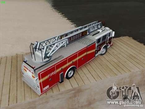 Seagrave Ladder 42 for GTA San Andreas interior