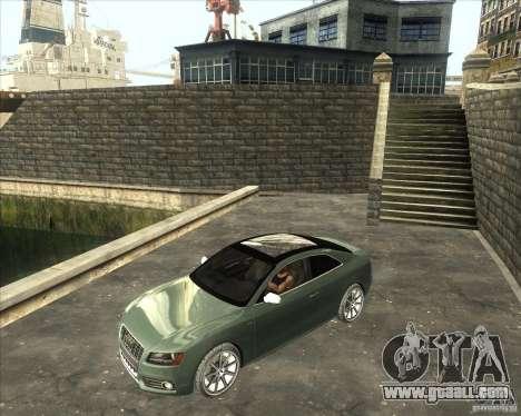 Audi S5 V8 custom 2008 for GTA San Andreas back left view