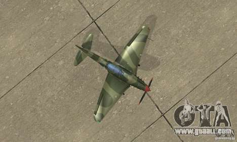 Yak-9 during WORLD WAR II for GTA San Andreas right view
