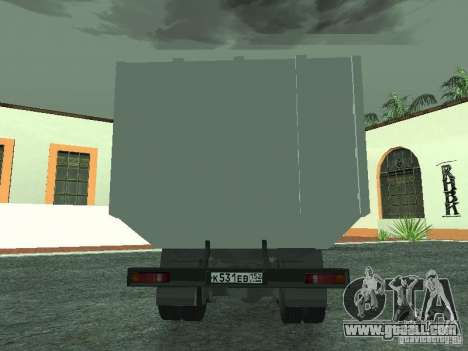 KAMAZ 53215 garbage truck for GTA San Andreas right view