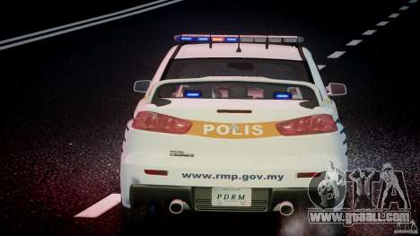 Mitsubishi Evolution X Police Car [ELS] for GTA 4 engine