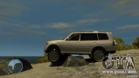 Mitsubishi Pajero Wagon for GTA 4 left view