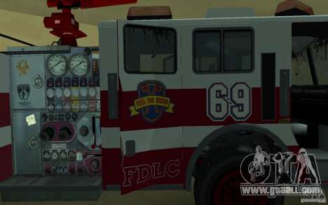 FIRETRUCK for GTA San Andreas side view