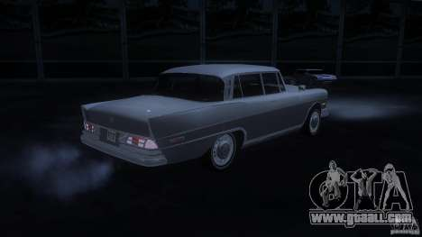 Mercedes-Benz 300SE US for GTA San Andreas back left view