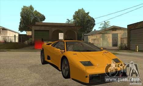 Lamborghini Diablo GT-R for GTA San Andreas back view