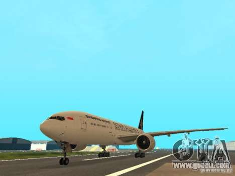 Boeing 777-200 Singapore Airlines for GTA San Andreas