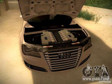 Audi A8 2010 for GTA San Andreas side view