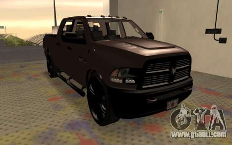 Dodge Ram 3500 for GTA San Andreas right view