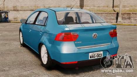 Volkswagen Voyage G6 2013 for GTA 4 back left view