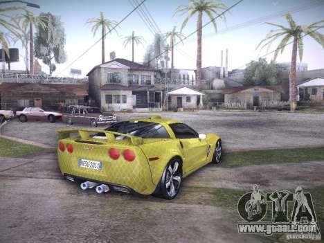 Chevrolet Corvette C6 Z06 Tuning for GTA San Andreas interior