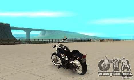 Harley Davidson FXSTBi Night Train for GTA San Andreas back left view