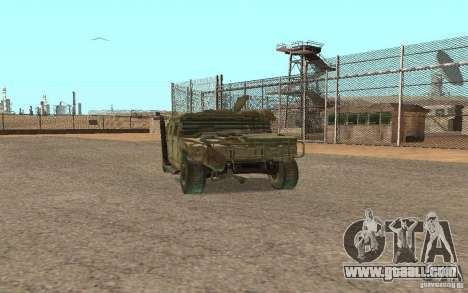 Hummer Spec Ops The Line for GTA San Andreas left view