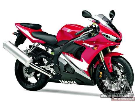 Yamaha YZF R6 2005 for GTA Vice City right view