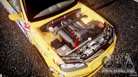 Nissan Skyline R34 GT-R Tezuka Goodyear D1 Drift for GTA 4 bottom view