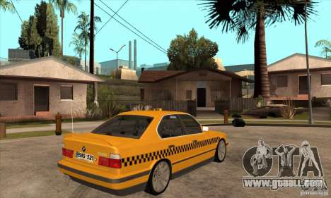 BMW E34 535i Taxi for GTA San Andreas right view