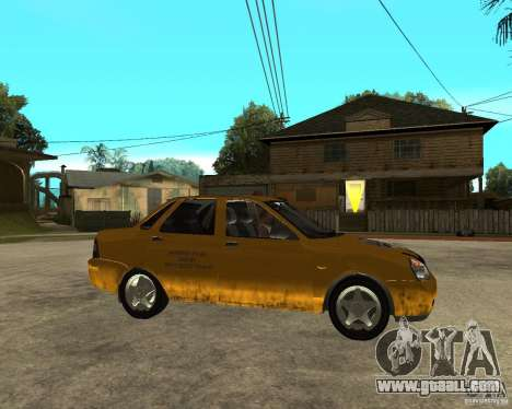 "LADA 2170 ""priora"" Taxi for GTA San Andreas"