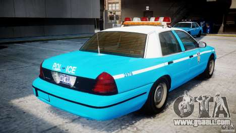 Ford Crown Victoria Classic Blue NYPD Scheme for GTA 4 right view