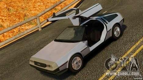DeLorean DMC-12 1982 for GTA 4 side view