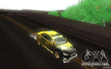 Mitsubishi Lancer Evolution X Gymkhana for GTA San Andreas inner view