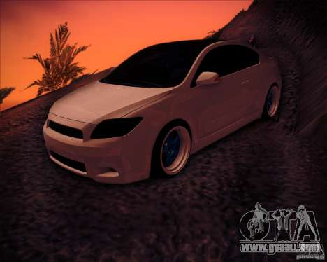 Scion tC Blue Meisters for GTA San Andreas bottom view