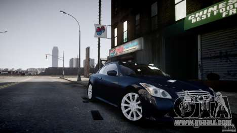Infiniti G37 Coupe Sport for GTA 4 back left view
