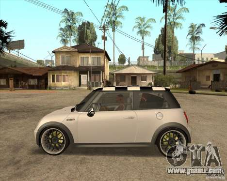 Mini Cooper for GTA San Andreas back left view