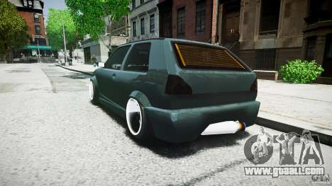 Volkswagen Golf 2 Low is a Life Style for GTA 4 back view