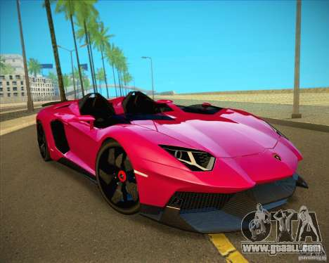 Lamborghini Aventador J for GTA San Andreas back view