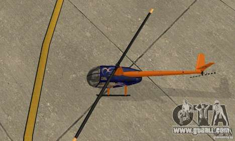 Robinson R44 Raven II NC 1.0 Skin 3 for GTA San Andreas back view