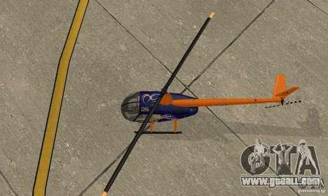 Robinson R44 Raven II NC 1.0 Skin 3 for GTA San Andreas back view