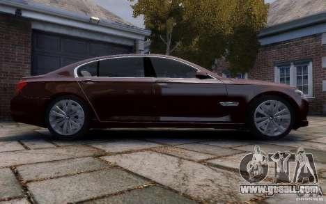 BMW 760Li 2011 for GTA 4 inner view
