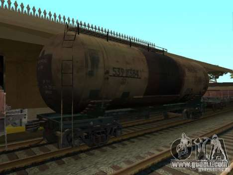 Tank No. 68T 53911384 for GTA San Andreas left view