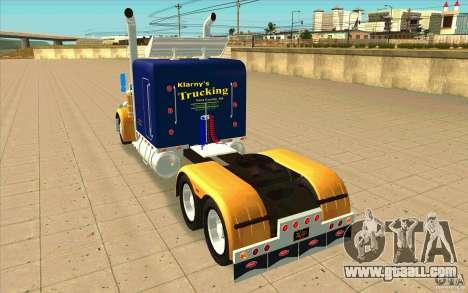 Peterbilt 359 Custom for GTA San Andreas back left view