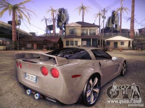Chevrolet Corvette C6 Z06 Tuning for GTA San Andreas right view